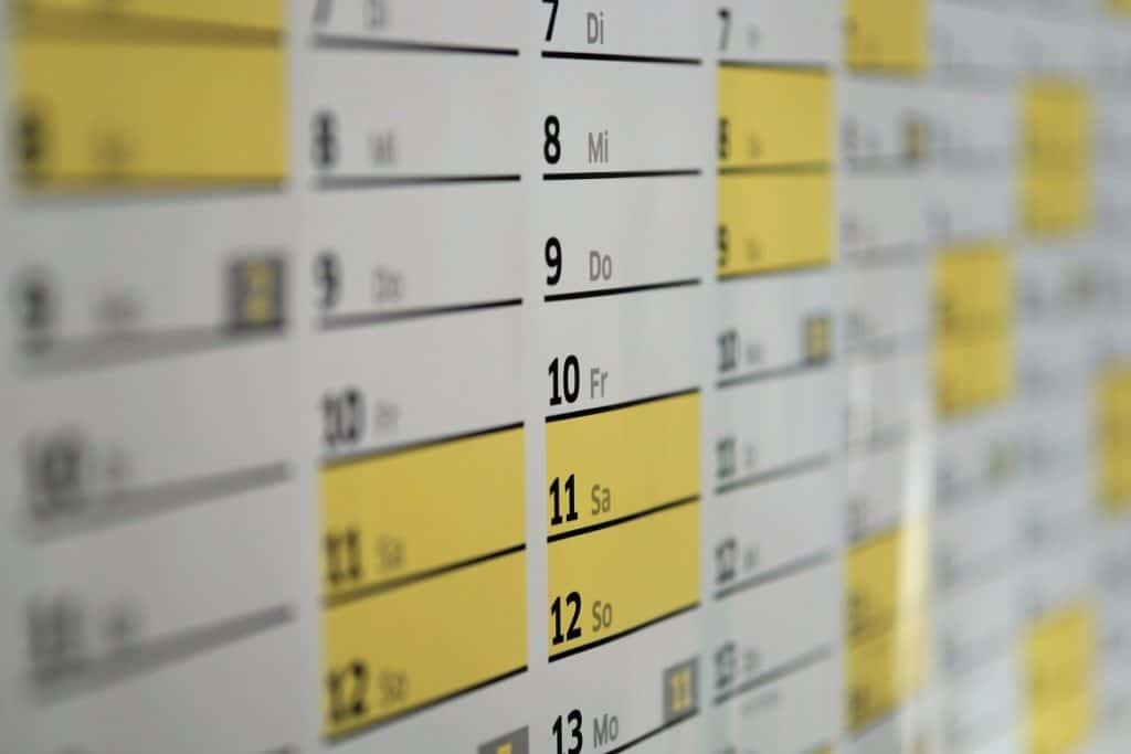 לוח זמנים של סוחר בשוק ההון